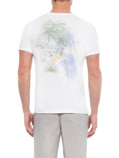 Camiseta Masculina Aquarela Paradise - Richards - Off White - Shop2gether 88c75bb734af1