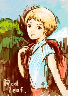 Hideya Tanaka <Title>momoko GRAFFITI、終了前に参加せねばと思いたち、慌ててかいてみたRedLeafさん。