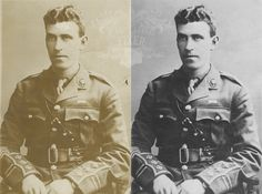 Some low level damage & staining has been repaired repaired. An Officer And A Gentleman, Photo Repair, Photo Restoration, British Army, Old Photos, Old Pictures, Antique Photos, Vintage Photos