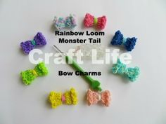 Monster Tail BOW Charm. Designed and loomed by Jacy at Craft Life. Click photo for YouTube tutorial. 04/09/14