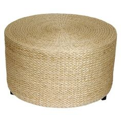 rush grass cocktail ottoman only $79 at JoshandMain.
