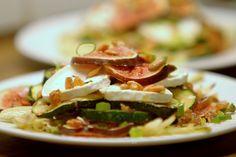 vijgen en gegrilde courgette met geitenkaas (figs - zucchini - fennel - goat cheese)