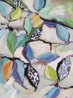 Brilliant Blue Leavesoriginal painting by by MDaisleyMoffitt, $75.00