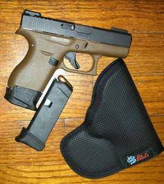 Glock 42 strike industries 2 mag extension and extra mag with pearce 1 extension, Truglo TFO yellow rear green front night sights, Da Santis pocket holster EDC Pocket Holster, Concealed Carry Holsters, Glock 42, 380 Acp, Weapon Storage, Night Sights, Edc Everyday Carry, Guns And Ammo, Tactical Gear
