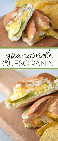 It doesnt get any better than this guacamole queso panini. Crunchy melty and busting with flavor. Add a few jalapeños to take it to a whole new level! Grub Burger, Gourmet Burgers, Chicken Lunch Recipes, Dinner Recipes, Brunch Recipes, Enchiladas, Lunches And Dinners, Meals, Panini Recipes