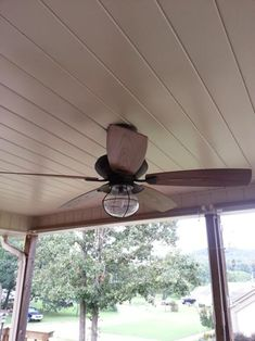 Indoor Outdoor Oil Rubbed Bronze Ceiling Fan With Wall Control And Light Kit