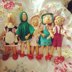 Polish wooden dolls