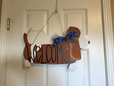 Basset Hound Door Hanger by CrazyArtTeacherLady on Etsy