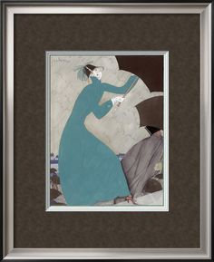 Vogue - October 1921 Poster Print by Georges Lepape at the Condé Nast Collection