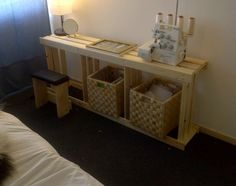 Morning makeup station from ikea hackers, seems easy, cheap and helps you save space when you have a small place