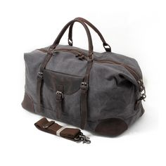eacdc01c46 Felipe Duffle Bag – Grey. Canvas Duffle BagDuffel BagLeather MenLeather  GiftsThanksgiving ...