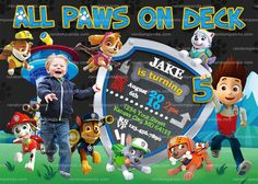 Personalize Paw Patrol Invitation, Puppy Party, Ryder Birthday Invite
