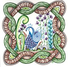 Bird in Celtic Knot Art Print