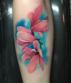Pink Magnolias Tattoo