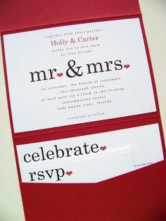 Mr & Mrs Pocketfold invite