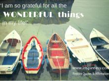 'I Am So Grateful for All the Wonderful Things in My Life.'