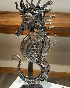 Steampunk sea horse by Alan Williams Photo by Natalie Hooper