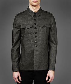 John Varvatos Official Site: Shop Online , VARV-3849 Modern Military Shirt Jacket, johnvarvatos.com