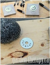 DIY Metal Stamped tags from washers (to add to the tshirt bracelets)