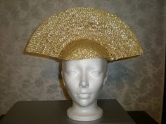 TUTORIAL! Cut a straw hat in half! Confessions of a Costumeholic: Starting with Headdresses