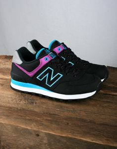 New Balance Women's WL574 - Black/Purple