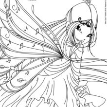 MusaThis Winx Character Is A Fun Coloring Page To Add Your Collection You Can Color Musa Online With The Interactive Or Print