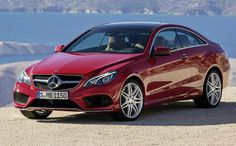 Mercedes E-Class Coupe with roof