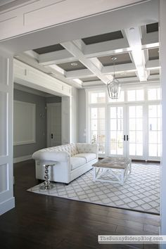 Living Room Update And A New Favorite Shop. Coffered CeilingsPainted ...