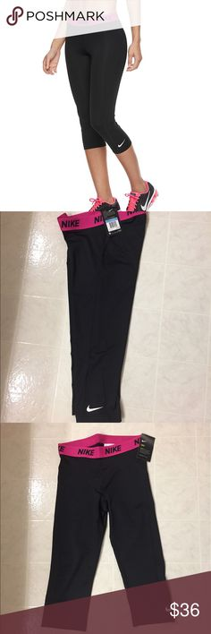 Women's Nike Power Victory Dri-FIT Running Capris NO TRADES - 🎉30% OFF 2 OR MORE ITEMS🎉 Complete your athletic wardrobe with these women's Nike Power Victory running capris. The close-to-body fit is perfect for high-intensity training. Ideal for high-impact exercise Dri-FIT moisture-wicking performance fabric Mesh panel behind the knee increases ventilation Signature Nike swoosh graphic 31-in. inseam Midrise sits above the hip Elastic waistband Polyester, spandex Machine wash Nike Pants…