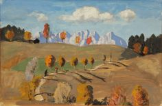 "thunderstruck9: ""Alfons Walde (Austrian, 1891-1958), Herbst in Tirol [Autumn in Tyro], 1930. Watercolor and tempera on paper, 25 x 36 cm. """