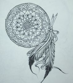 Mandala + Dreamcatcher = THIS  Could add feathers for each of my children's births...