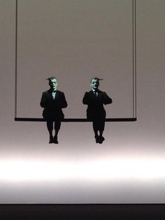 Willem Dafoe and Mikhail Baryshnikov by Robert Wilson — at Théâtre De La Ville Châtelet.