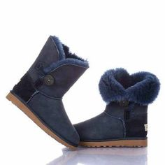 Navy Blue Ugg 5803 Bailey Button Boots Model: Ugg Boots 060 Save: 75% off