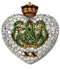 The Duchess of Windsor's emerald, ruby and diamond 20th anniversary brooch, mounted by Cartier, Paris, 1957