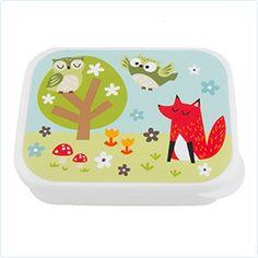 Lunchbox 15x12 Fuchs & Eulen - Sass & Belle - www.lolakids.de