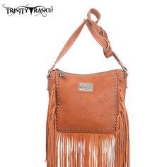 Montana West TR10-8360 Trinity Ranch Fringe Messenger Bag