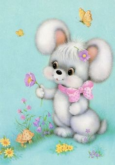 Vintage Pictures, Cute Pictures, Easter Pictures, Cute Animals Images, Children Sketch, Cute Animal Illustration, Illustrations And Posters, Animal Illustrations, Animal Cards