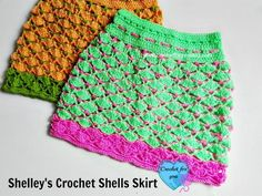 Shelley's Crochet Shells Skirt - Make crochet clothes patterns you daughter will actually want to wear with this cute skirt pattern.