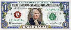 1 $ Dollar Schein mit Farbe on http://www.drlima.net