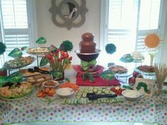 Food display I did for a Very Hungry Caterpillar themed baby shower