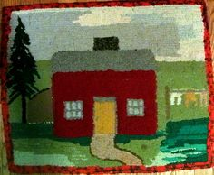 primitive hooked rug made by Rosemary Wilson, Rosemary's Rugs.