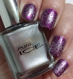 Pure Ice - Silver Mercedes stamped over Touch me Softly