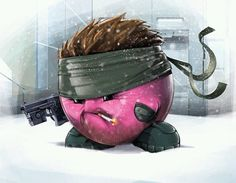 Solid Snake Kirby - Metal Gear Solid.