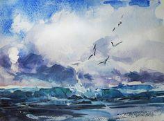 Seascape. Watercolor.