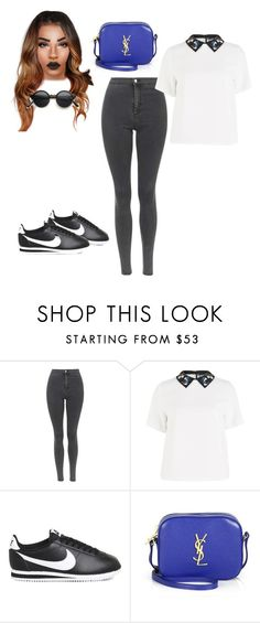 """Untitled #86"" by priscillay5 on Polyvore featuring Topshop, Sportmax, NIKE and Yves Saint Laurent"