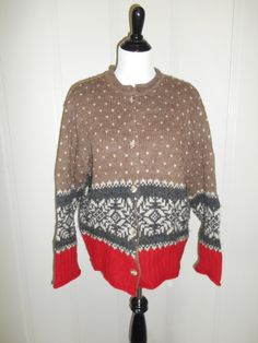 Vintage Wool Alpaca winter  knit  sweater   by ATELIERVINTAGESHOP