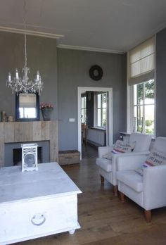 Taupe grijze muren on pinterest interieur fireplaces and wall colours - Grijze ruimte en t aupe ...