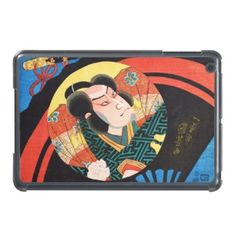 Image of #kabuki #actor on folding #fan #Utagawa #japanese fine #art #SkinIt #LeNu #iPad Mini #Case #gift #Japan #iPadMini #cover #vintage