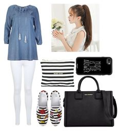 """""""Untitled #409"""" by syshrn on Polyvore featuring Miss Selfridge, Ellos, BP., Karl Lagerfeld, 8 Oak Lane and Casetify"""