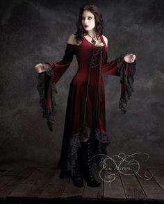 Wein rot High-Low Elisa Day romantisches Kleid von von rosemortem